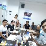 English Students Class Photo